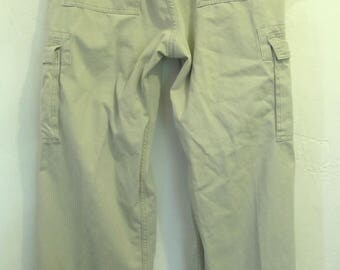 Men's,Vintage,Tan Khaki L00SE STRAIGHT,Hip Hop era CARGO Pants By LEVI'S.36x34