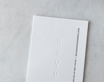 BECKETT - minimalist letterpress wedding invitation | modern design