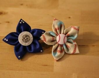 Kanzashi Flower Small Bar Barrette