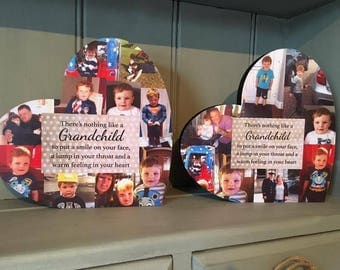20cm Photo Heart / Photo Collage / Heart Collage / Photo Gift / Personalised gift / Grandchild / Grandparent Gift
