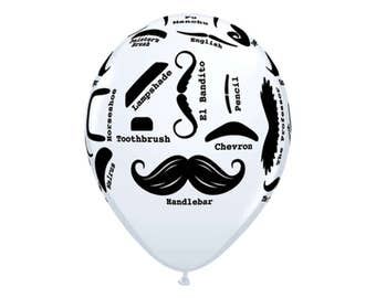 Mustache Balloons - Little Man Party - Little Man Baby Shower - Mustache Baby Shower - Mustache Birthday - Couples Shower - Bachelor Party