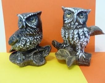 Homco, Pair of Owl Figurines,