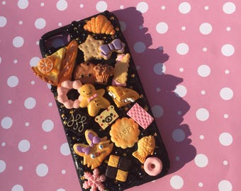 Iphone 7 yummy pastry decoden kawaii cute cell phone case