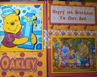 Winnie The Pooh 1st Birthday Card