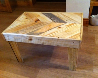 Small Chevron Coffee Table from selection of reclaimed wood
