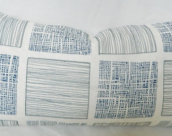 Templin Ocean Decorative Pillow Cover / Jeffrey Alan Marks Designer Fabric /  Embroidered Linen Fabric / Lumbar / Euro Shams /Urban Chic
