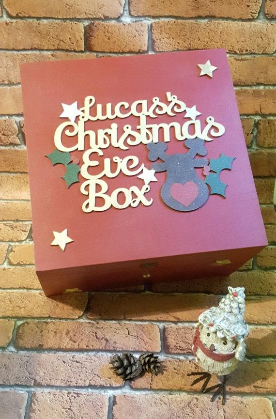 Personalized Wood Christmas Eve Box