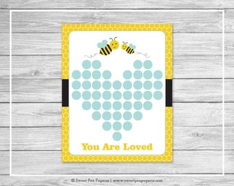 Bumble Bee Baby Shower Guest Book - Printable Baby Shower Guest Book - Bumble Bee Baby Shower - Baby Shower Guest Book - Guest Book - SP138