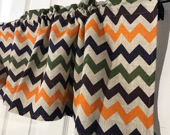 Burlap mulit colored chevron curtain Valance