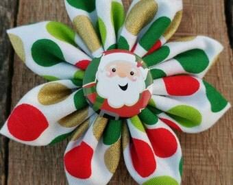 Christmas hair bow, Santa hair bow, Christmas bow, Santa bow, Christmas, hair bow, bow
