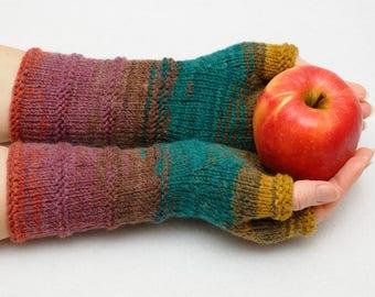Womens gift for women Knit gloves Fingerless gloves fingerless Mittens Arm Warmers Wrist warmers Girlfriend Gift for Her Winter gloves