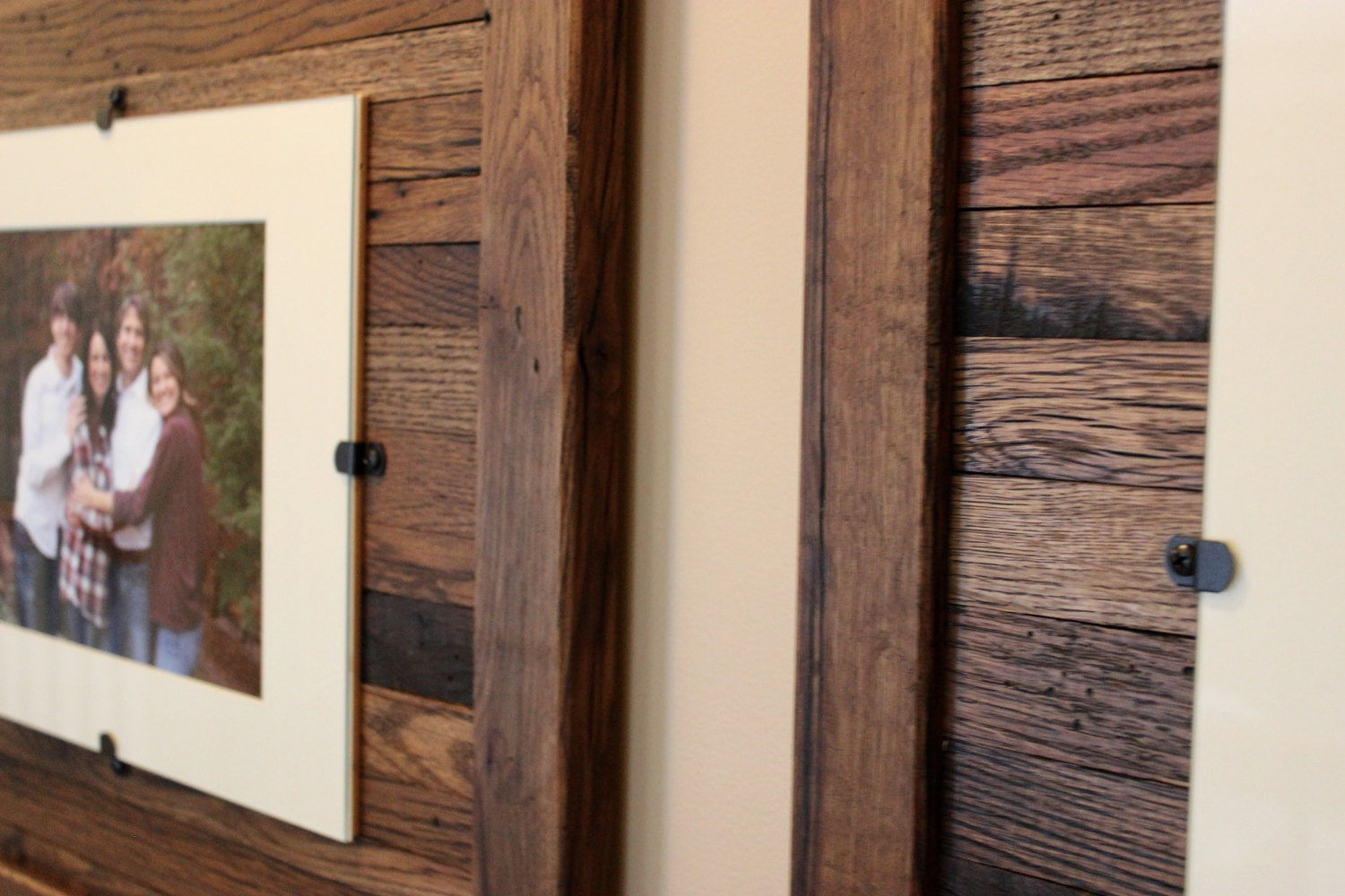 Reclaimed wood frames large wood frames set of 3 8 x 10 for Where to find reclaimed wood for free