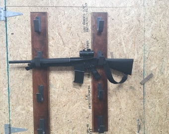 4 tier rustic gun rack