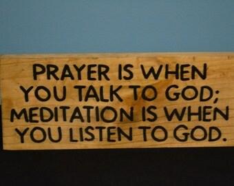 Meditation Sign Etsy