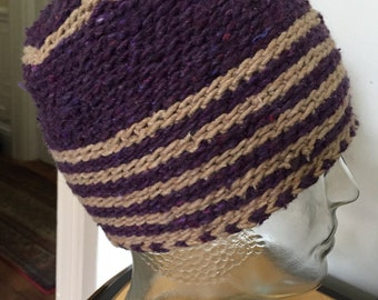 Hand made non itch cotton beanie hat