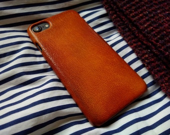 iPhone 7, 6, 6s leather case 'Old Tan'