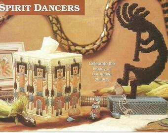 DIGITAL PATTERN: Indian Ceremony Tissue Box Cover & Kokopelli Statue 7 Ct Plastic Canvas/Christmas Sale