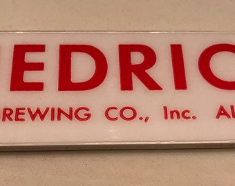 Hedrick Beer Foam Scraper Albany NY Still the Best Breweriana Cream Ale Hedrick Brewing
