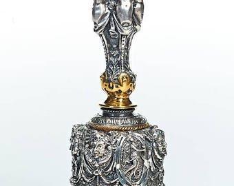 "Silver dinner bell ""Antique"""