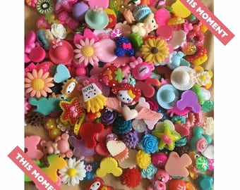 75pcs cabochons , kawaii  cabochons , flatback cabochons , craft supply