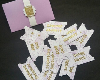 Calendar tabs monthly planner labels index markers sewing day Runner tabs crafting print