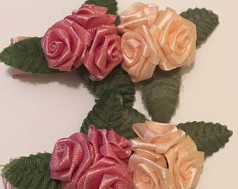 Set of 2 Rosette Hair Clips