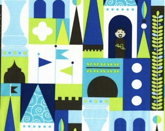 Castle Blocks Fabric - Blue - by Michael Miller Fabrics