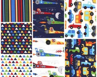 Traffic Jam in Paintbox - Fat Quarter Bundle - 7 Prints