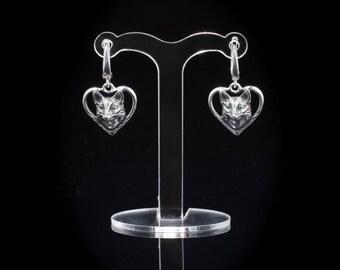Fox Earrings, sterling silver, handmade