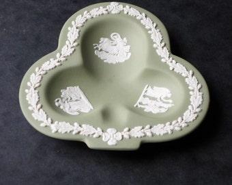 Wedgwood 1978 Sage Green Jasperware Pin Dish