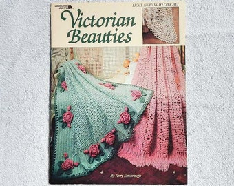 Vintage Victorian Beauties 8 Afghans To Crochet Leisure Arts 1292 Fiber Arts From 1990