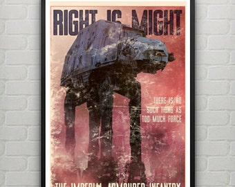 Star Wars AT AT Walker Imperial Propaganda Poster