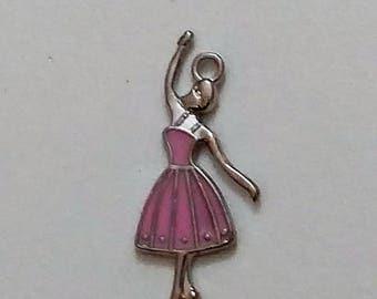 Pink Ballerina Charm