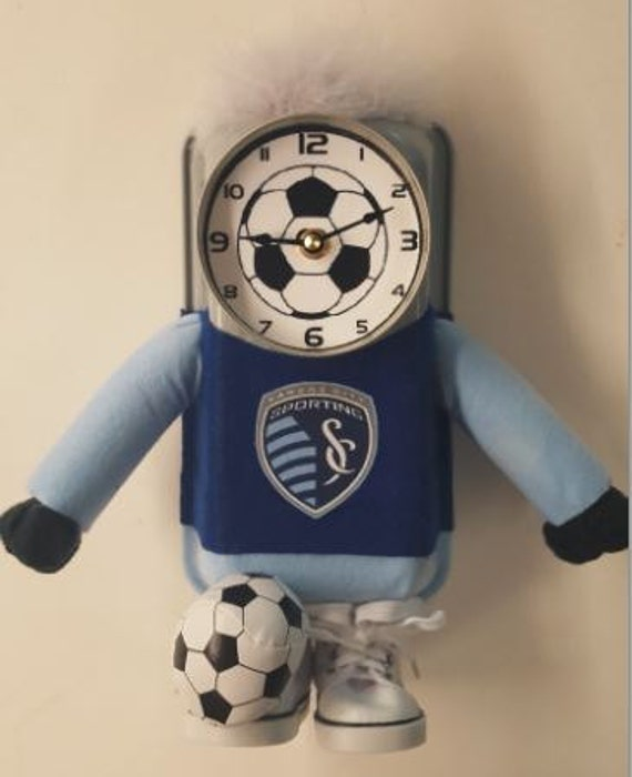 Sporting KC Soccer Clock, Handmade from odd and various materials