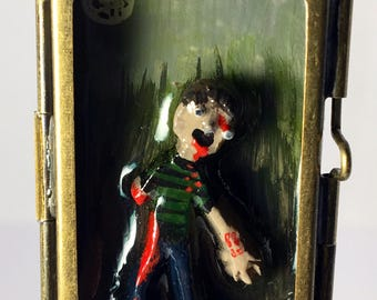 Zombie pendant necklace