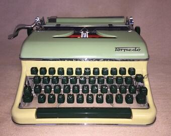 Vintage portable mechanical typewriter torpedo 18 mechanical typewriter
