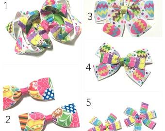 Easter Egg Hair Clip, Easter Bunny Hair Clip, Easter Hair Bow, Easter Hairbow, Easter bow, Spring Hair Clip Choose your Design