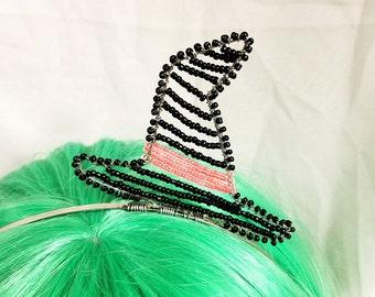 Beaded Witches Hat Headband