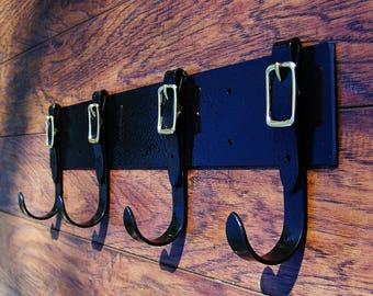 Blacksmith made Buckle coat rack