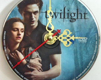 DVD Clock Twilight Handmade Clock Edward Cullen Bella Swan FREE U.S. SHIPPING