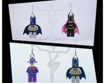 LEGO® Earrings - Batman, Joker & Batgirl