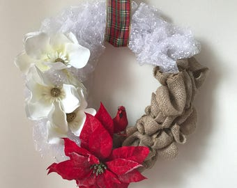 Rustic Winter / Christmas Holiday Wreath