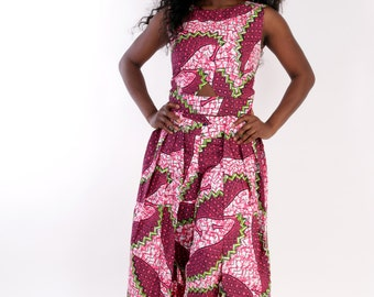 African print. Two piece Long Top and Pants
