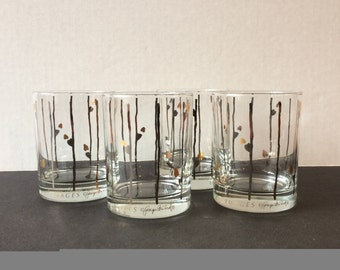 """Set of 4 Georges Briard """"Images"""" double old-fashioned glasses"""