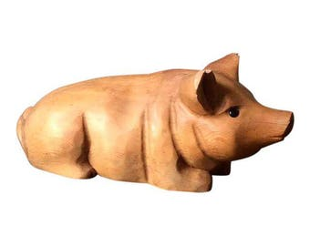 Pig Wood Carving