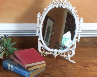 Antique Cast Iron Table Mirror