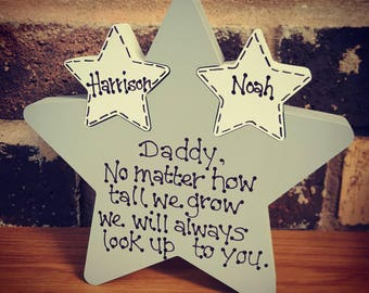 Freestanding personalised father's day gift star