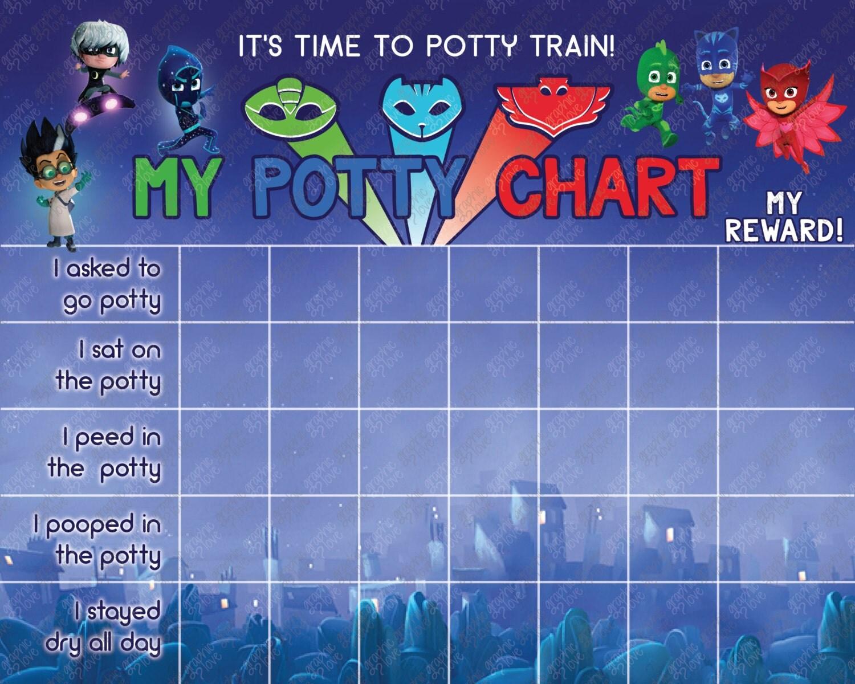 printable pj masks potty training chart set punch cards printable pj masks potty training chart set punch cards digital jpg file instant