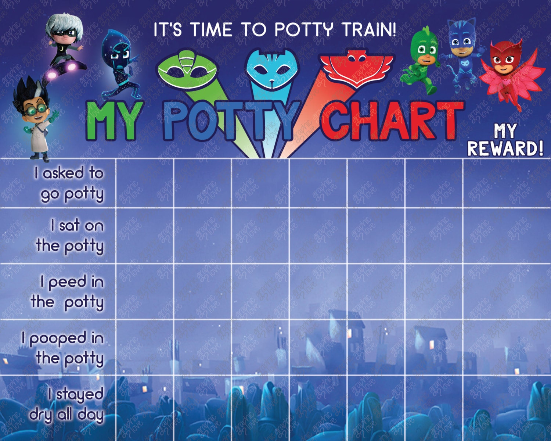 Printable Pj Masks Potty Training Chart Free Punch Cards
