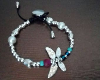 One of 50 style dragonfly dragonfly, adjustable, bracelet style one of 50